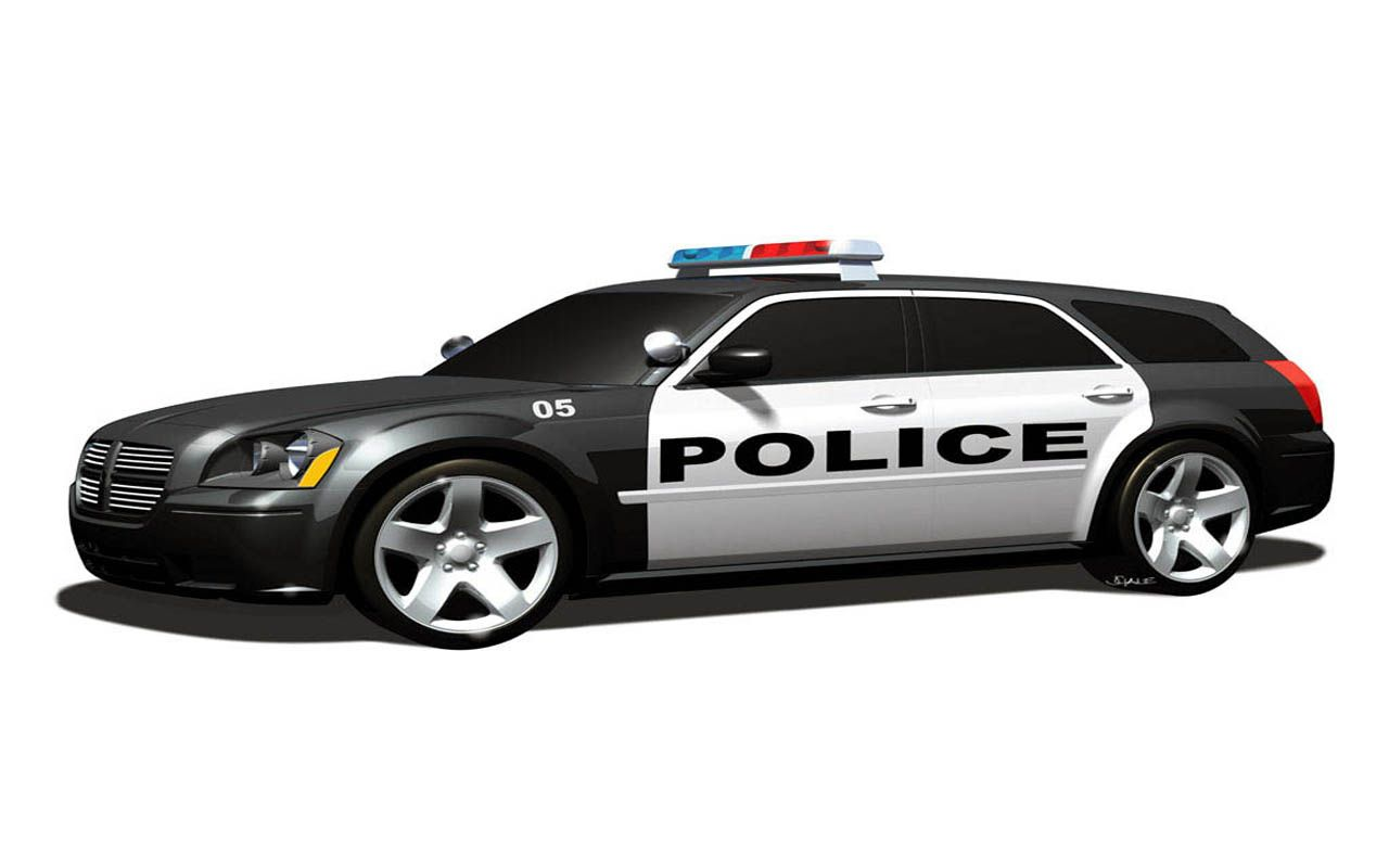 Policajn auto - Voiture police dessin anime ...